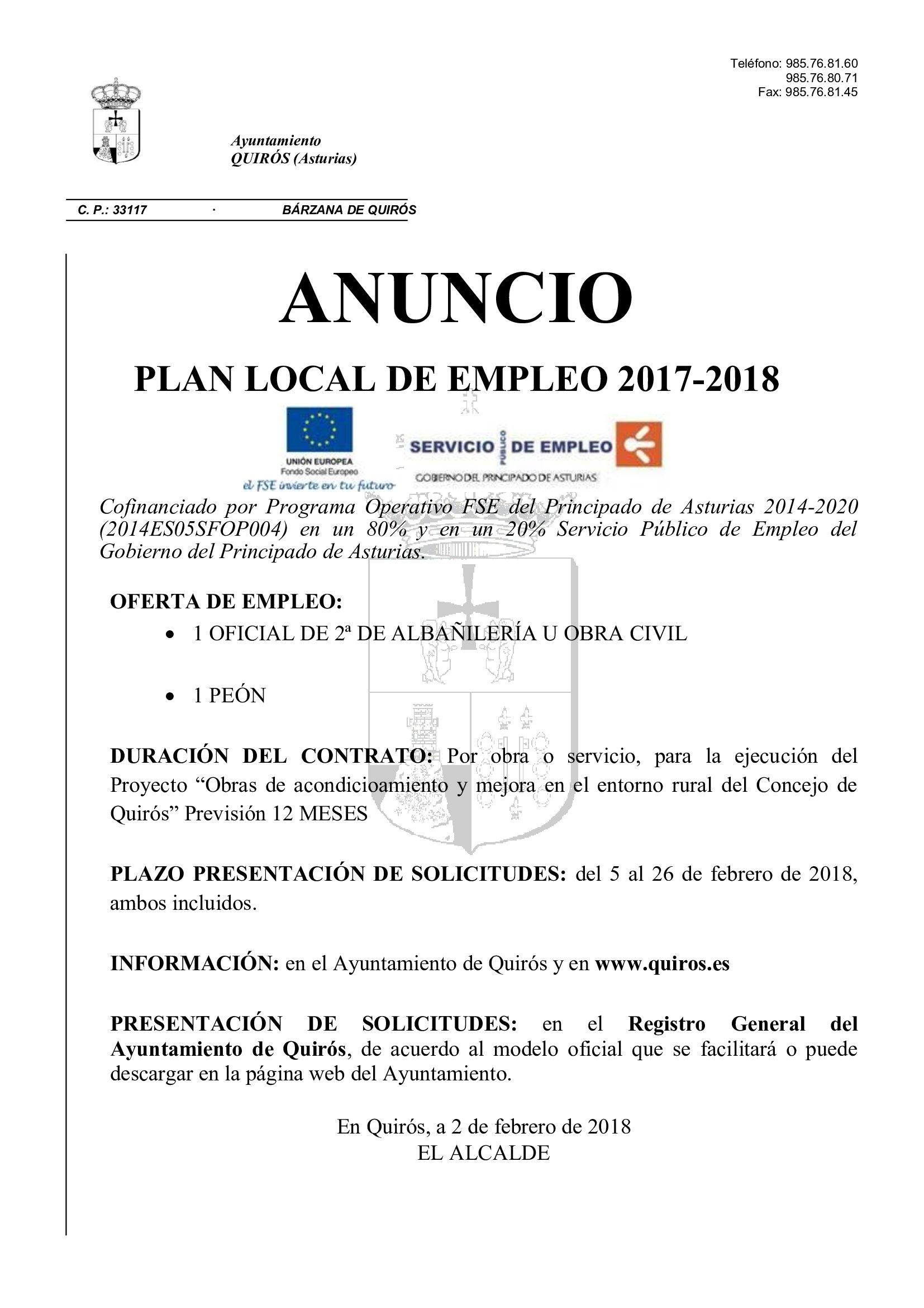 Anuncio plan empleo 2017_2018